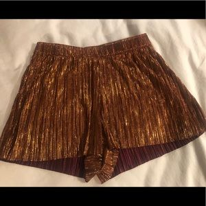 Bronze metallic Party shorts